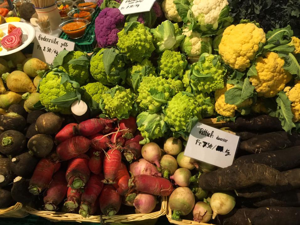 Das herrliche Angebot an alten und modernen Gemüsesorten am Biosuisse-Stand.
