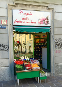 Ein typischer italienischer Quartierladen der an alte Filme erinnert.