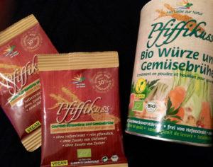 Die Streuwürze und Gemüsebrühe – die Allrounderin unter den Pfiffikus-Produkten.